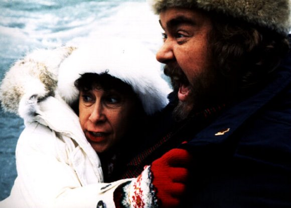 John Candy and Rhea Perlman in Canadian Bacon.