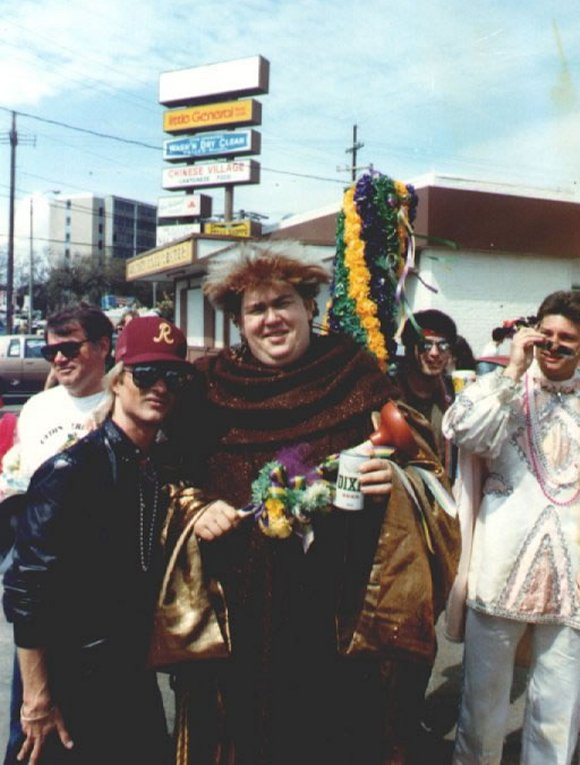 John Candy with some fans at Mardi Gras!