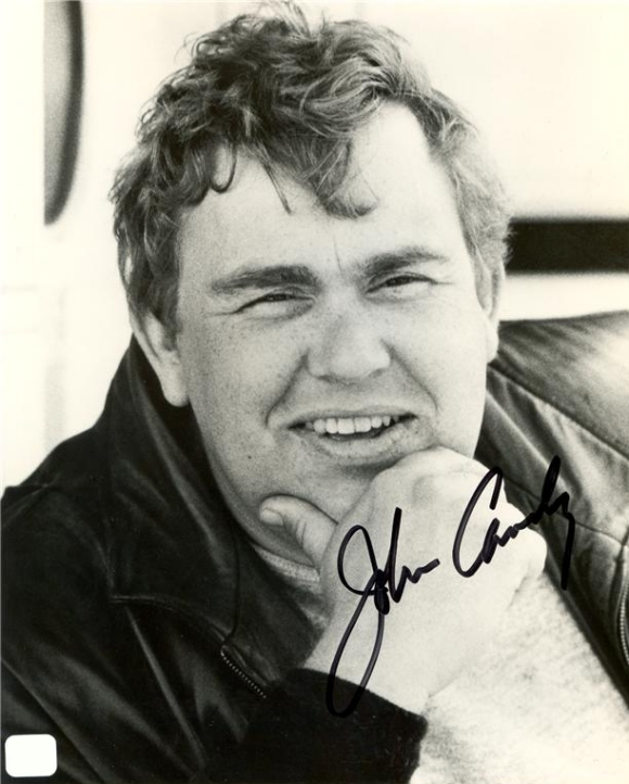 A nice black & white autographed photograph of our favourite man John Candy.